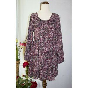 Alice in the Eve Fit & Flare Floral Dress Size 10 Long-sleeve Ditsy Cottagecore